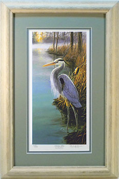 """Morning Glory"" Great Blue Heron by artist Randy McGovern"