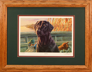 """Old Pro"" - Black Labrador Retriever by artist Randy McGovern"