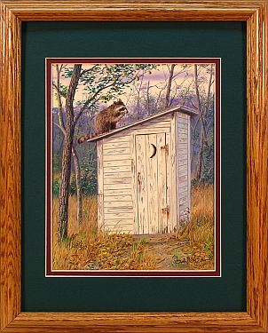 """Old Reliable"" - Country Outhouse by Artist Randy McGovern"