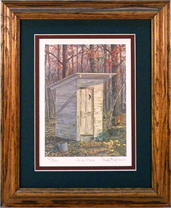 """On The Throne"" - Country Outhouse by Randy McGovern"