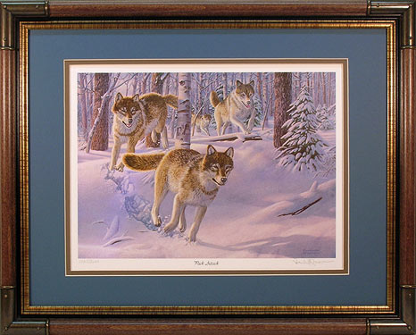 Pack attack wolf prints by wildlife artist randy mcgovern