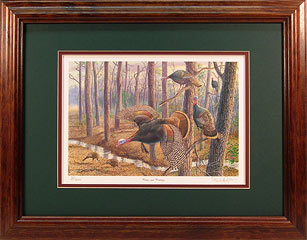 """Power And Privilege"" - Wild Turkeys by wildlife artist Randy McGovern"
