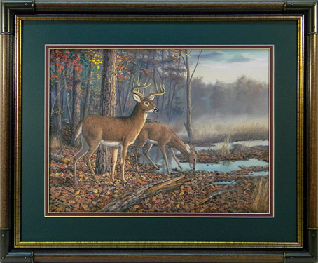 """Speed Bump"" - Whitetail Deer print by wildlife artist Randy McGovern"