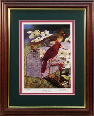 """Redbird Express"" - Redbird Express - Cardinals by wildlife artist Randy McGovern"
