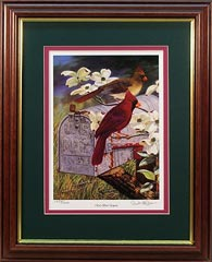 """Redbird Express"" - Cardinal by wildlife artist Randy McGovern"