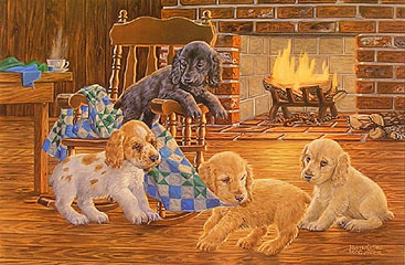 """Rock-a-my-Soul"" Cocker Spaniel pups by Randy McGovern"