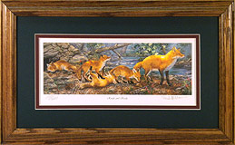 """Rough and Ready"" - Red Foxes by wildlife artist Randy McGovern"