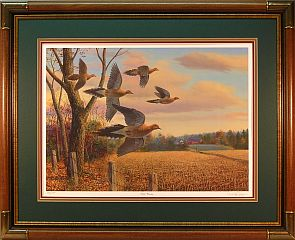 """Safe Passing"" - Mourning Doves by wildlife artist Randy McGovern"