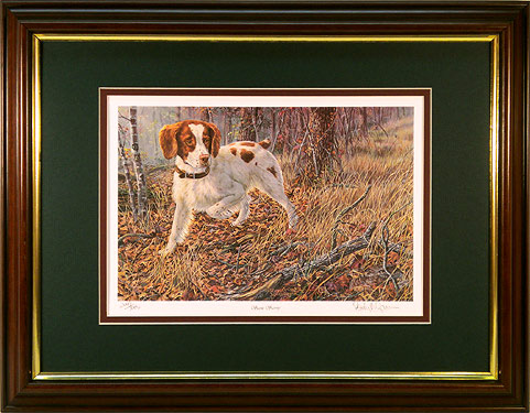 """Scent Savvy"" - Brittany Spaniel by artist Randy McGovern"