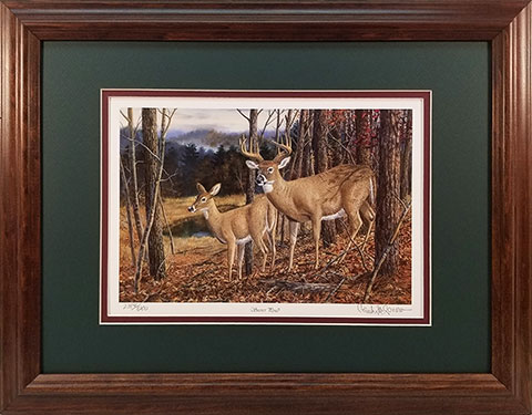 """Secret Pond"" - Whitetail Deer print by wildlife artist Randy McGovern"