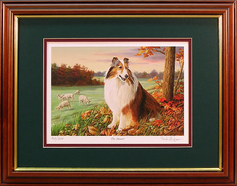 """The Sentinel"" - Sheltie print by artist Randy McGovern"