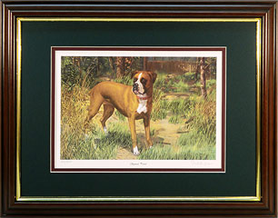 """Squirrel Patrol"" - Boxer by wildlife artist Randy McGovern"
