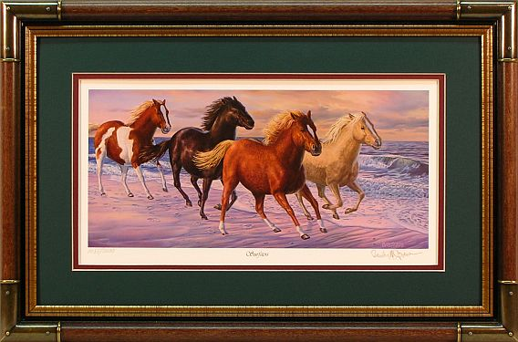 """Surfsters"" - Wild Horses print by wildlife artist Randy McGovern"