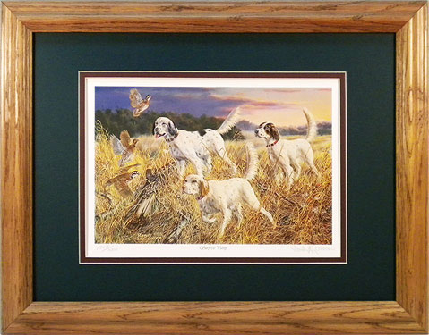 """Surprise Party"" - English Setters by artist Randy McGovern"