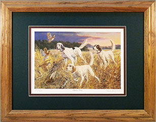 """Surprise Party"" - English Setter by artist Randy McGovern"
