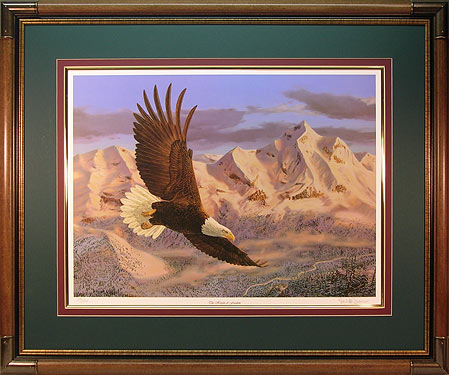 """The Height of Freedom"" - Eagle Print by wildlife artist Randy McGovern"