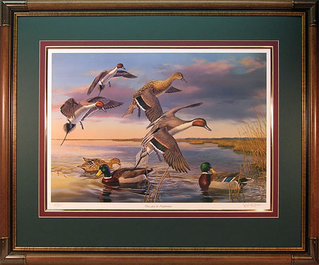 """There Goes the Neighborhood"" - Waterfowl Art print by wildlife artist Randy McGovern"
