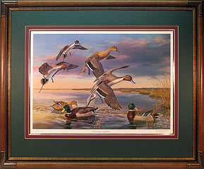"""There Goes The Neighborhood"" - Pintail and Mallards by artist Randy McGovern"