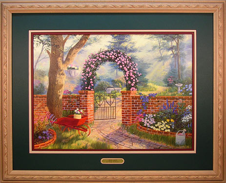 """The Rose Gate"" - Landscape print by wildlife artist Randy McGovern"