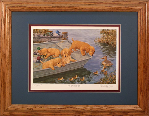 """Too Much Too Soon"" - Golden Retriever print by McGovern"