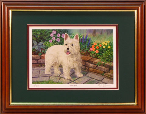 """Varmint Watch"" - Westie print by wildlife artist Randy McGovern"