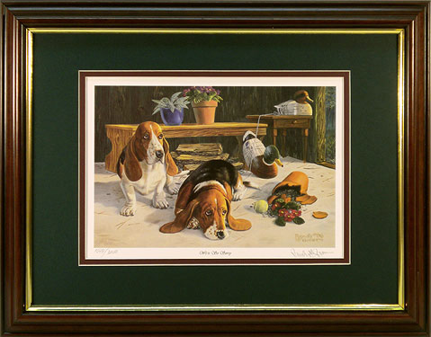 """We're So Sorry"" - Bassett Hounds print by artist Randy McGovern"