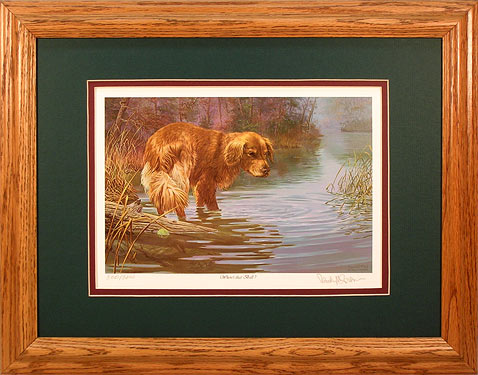 """Where's That Ball"" - Golden Retriever print by wildlife artist Randy McGovern"