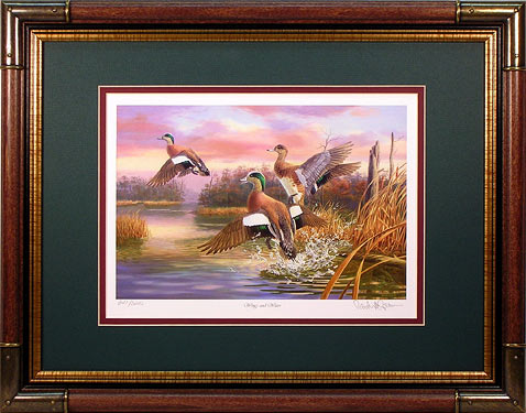 """Wings and Water"" - Widgeon print by wildlife artist Randy McGovern"