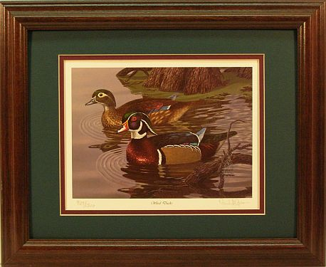 """Wood Ducks"" - Waterfowl Art print by wildlife artist Randy McGovern"