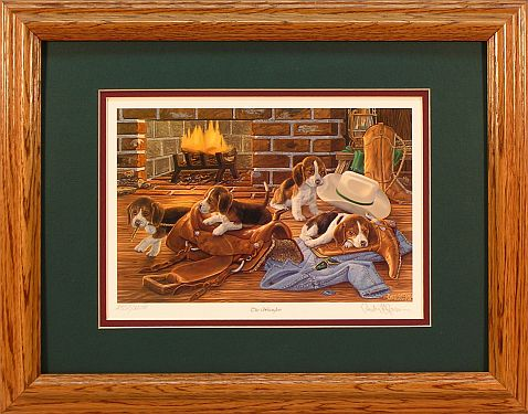"""The Wranglers"" - Dog Print by wildlife artist Randy McGovern"