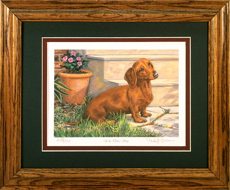 """You Don't Say"" - Red Dachshund by Artist Randy McGovern"